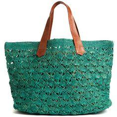 Valencia Crocheted Carryall in Aqua design by Mar Y Sol