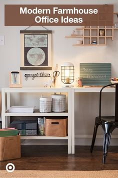 Create your farmhouse office with affordable pieces and decor—from trays & bins, to desks & chairs.