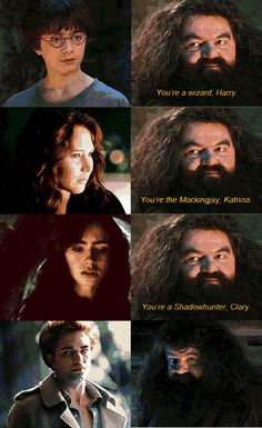 Hagrid doesn't know what to do with Edward