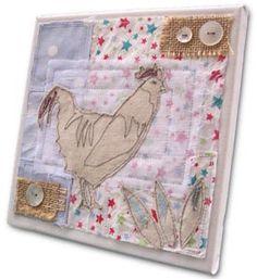 Country Cockerel Textile Wall Art Canvas by Diane Taylor : Bella ...