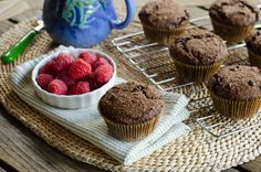 These chocolate chocolate chip muffins are a perfect gluten-free, grain-free treat — like eating cupcakes for breakfast. Or a slightly less sweet dessert.