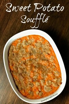 Do you need a sweet potato side dish recipe idea? This Sweet Potato Soufflé is a favorite potato dish at our holiday gatherings.I asked my husband to describe this recipe and he said The butter eggs and brown sugar enhance the sweet potato experience. Sweet Potato Side Dish, Potato Side Dishes, Best Side Dishes, Easy No Bake Desserts, Dessert Recipes, Dessert Ideas, Sweet Potato Souffle, Potato Pie, Crockpot Recipes