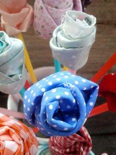 ramo tela manualidad niños dia de la madre Mother's day gift. Kids craft