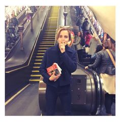 Emma Watson has been hiding books on the London tube. It's all a part of her feminist book club, y'all. Emma Thompson, Hermione Granger, Draco Malfoy, Robert Pattinson, Drarry, Dramione, Fangirl, Hidden Book, Feminist Books