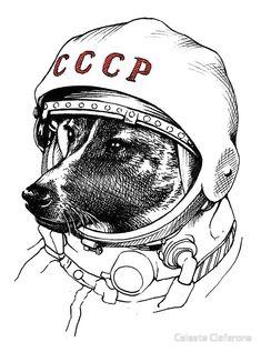 Laika, space traveler by Celeste Ciafarone