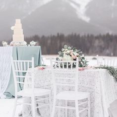 It's tough to think of blowing snow in this heat! But for those of you planning a whimsical winter wedding here are some beautiful ideas... #whatsyourstyle #yycweddingrentals #winterwedding . . . Photography & Video | Victoria Blaire @thevictoriablaire  Event Designer | Picture Perfect Wedding & Events @picture_perfect_weddings  Floral Designer | DAHLIA FLORAL DESIGN @dahliafloraldesigncalgary  Cake Designer | Whippt Desserts and Catering @whipptcatering  Linens and Coverings | Great Events…
