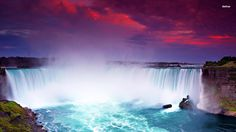 Niagra Falls I've been there's once when I was 1 and I would love to go again someday.