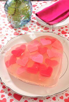 gelatina de corazones