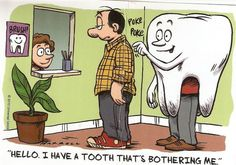 Because going to the dentist is no joke, here is a bit of dental humor for you to enjoy and ease the pain, while your are waiting for your appointment! Dental World, Dental Life, Dental Quotes, Dental Facts, Dental Assistant, Dental Hygiene, Dental Humour, Dental Teeth, Dental Implants