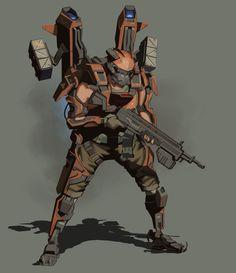 ArtStation - Pirate exoskeletons, Timo Kujansuu
