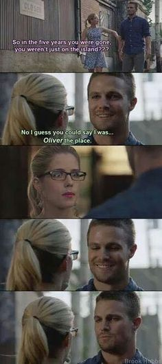 He was OLIVER the place! XD Anyone...? No? Okay...