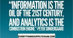 Analytics and Big Data Quotes - Everything Supply Chain for all your supply chain needs Intelligence Quotes, Find Quotes, In God We Trust, Data Analytics, Supply Chain, Steve Jobs, Artificial Intelligence, Big Data, Business Quotes