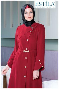 Hijab Fashion, Fashion Dresses, Hijab Style Dress, Coats, Jackets, Outfits, Elegant Outfit, Bebe, Fashion Show Dresses