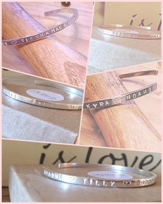 A personal favourite from my Etsy shop https://www.etsy.com/uk/listing/485962353/personalised-silver-open-bangle
