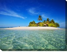 Down image Your Private Island Print ..  with you in it!