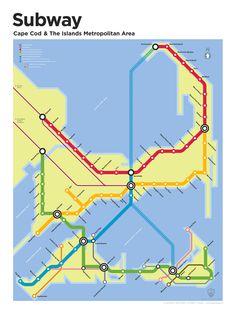 Cape Cod Subway Map
