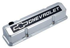 Proform 141-905 Valve Cover Chevrolet /& Bowtie Emblem  S//B Chro
