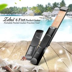 Only US$14.99, buy best Zebra™ 6 Fret Portable Pocket Guitar Practice Tool Guitar Chord Trainer sale online store at wholesale price.US/EU warehouse.