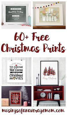 More than 60 free printable Christmas and Holiday Prints Printable Christmas Decorations, Free Christmas Printables, Free Printables, Party Printables, Holiday Decor, Christmas Wall Art, Christmas Signs, Christmas Crafts, Fresh Christmas Trees