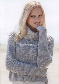 Free women's pullovers knitting patterns