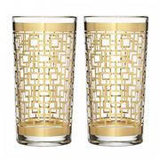 Mixology Mad Men Holloway Gold Highball Glass Pair- Waterford Home Barware Gift for sale online Waterford Crystal, Crystal Stemware, Whisky, Drinkware, Barware, Relax, Highball Glass, Gold Diy, Gold Pattern