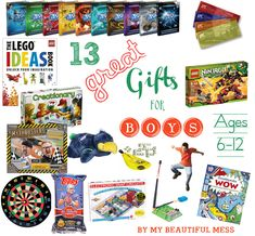 13 Great Gift Ideas for Grade School Aged Boys {ages 6-12} #christmas #holiday #giftideas