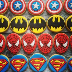 superhero cookies More More