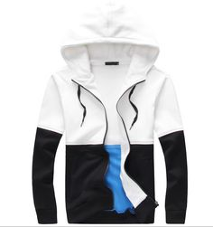 3eb66292a43ef5 Fleece Jacket (Black   White) from FaceGram