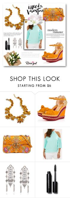 """""""rosegal"""" by lucky-cdi ❤ liked on Polyvore featuring J.Crew, Christian Louboutin, Gucci and Bobbi Brown Cosmetics"""