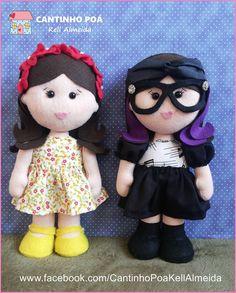 Bonecas Manuella e Isabela de Cúmplices de um Resgate com molde