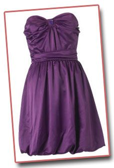 pictures of short purple prom dresses