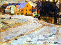 "Wassily Kandinsky - ""Schwabing - Nikolaiplatz"". 1902"