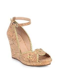 4f078a5f3686 Jack Rogers - Chrystie Leather   Suede Platform Wedge Sandals