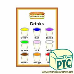 Sandwich Shop Role Play Resources - Primary Treasure Chest Role Play Areas, Ourselves Topic, Crafts For Kids, Arts And Crafts, Sandwich Shops, Treasure Chest, Colour Chart, Color, Sandwiches