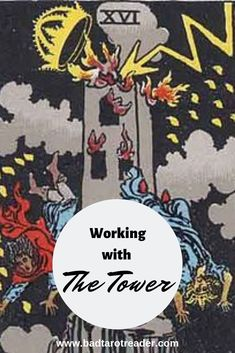 Working with The Tower in Tarot doesn't have to be scary! It can be a card that brings immense clarity and understanding Tarot Card Spreads, Tarot Cards, Tarot Major Arcana, Tarot Card Meanings, Tarot Readers, Card Reading, Tarot Decks, Magick, Wicca