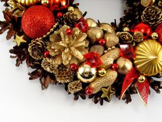 Christmas Decorations – Christmas wreath – a unique product by Zielonepalce on DaWanda