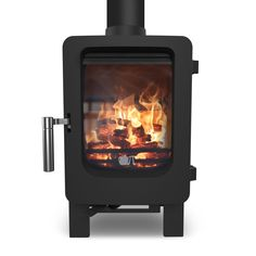 Wood burning stove in a shed chimney kit - Stovefitter's Warehouse Small Wood Burning Stove, Small Stove, Hot Snacks, Installation Manual, Hearth And Home, Garden Office, Wood Burner, Building A Shed, Brick And Stone