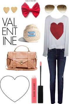 """valentine's day"" by carolinecarr on Polyvore"