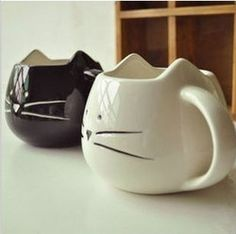 Lotion cup black and white cat animal cup glass ceramic lovers mug cup: Verified Supplier - Bengbu Yourun International Trade Ltd. Glass Ceramic, Ceramic Cups, Ceramic Art, Cat Coffee Mug, Cat Mug, Drink Coffee, Coffee Cups, Pottery Mugs, Ceramic Pottery