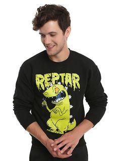 Rugrats Reptar Sweatshirt, BLACK