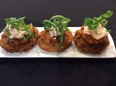 Fried Green Tomatoes with Bacon and Pimento Cheese
