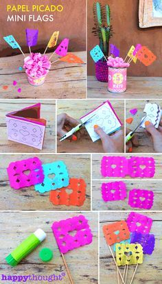Papel picado flags DIY - Easy instructions and template!