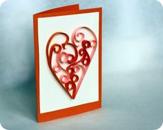 Beautiful Valentine Card Quilling