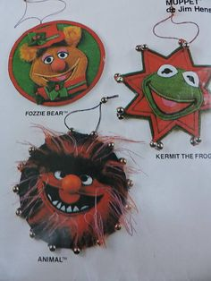 Animal Kermit the Frog Fozzie Bear Jim Henson's Muppet Cool Patterns, Vintage Patterns, Kermit The Frog, Costume Patterns, Jim Henson, Pattern Fashion, Cross Stitch Patterns, Doll Clothes, Vogue