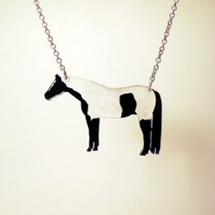 Paint Horse, APHA Necklace - Laser Cut Acrylic via Etsy