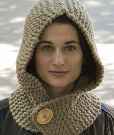 New crochet hat girl hobbies ideas Baby Knitting Patterns, Baby Patterns, Free Knitting, Crochet Patterns, Crochet Hood, Knit Or Crochet, Crochet Baby, Baby Scarf, Hooded Scarf