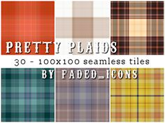 Pretty Plaids 001 by ~faded-ink on deviantART