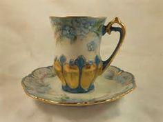 demitasse cup and saucer leaf -