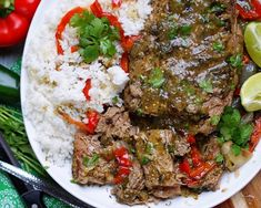 Ultimate Mexican Pot Roast - a southern discourse Mexican Dishes, Mexican Food Recipes, Beef Recipes, Roast Dinner, Home Food, Salsa Verde, Short Ribs, Beef Dishes, Tex Mex