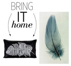 """""""Bring It Home: Feather Pillow"""" by polyvore-editorial ❤ liked on Polyvore featuring interior, interiors, interior design, home, home decor, interior decorating, Pyar & Co. and bringithome"""